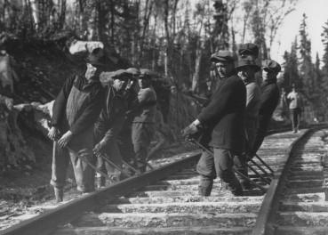 La course au chemin de fer